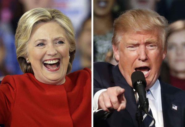 Hillary Clinton a plus d'un million de voix d'avance sur Trump
