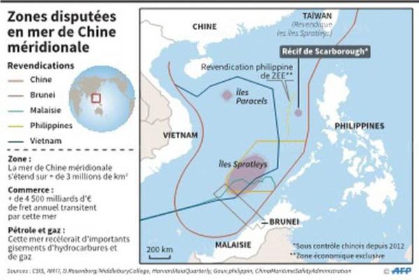 Les USA menacent de priver Pékin d'accès aux îles de mer de Chine du sud