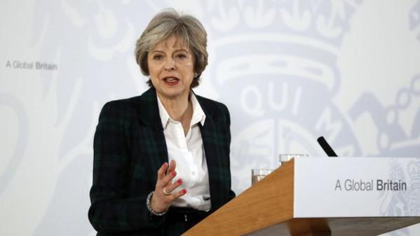 Theresa May veut un accord douanier entre le Royaume-Uni et l'UE
