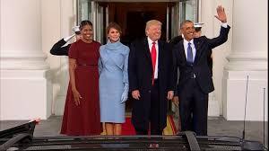 Les Trump à la Maison Blanche pour une dernière rencontre avec les Obama