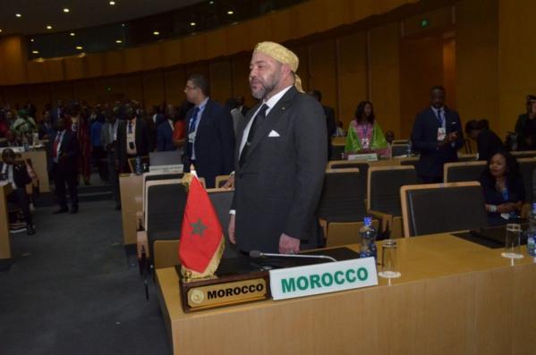 Mohammed VI au siège de l'UA, après 33 ans d'absence du Maroc : « il est bon le jour où l'on rentre chez soi. »