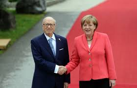 Béji Caid Essebsi et Angela Merkel