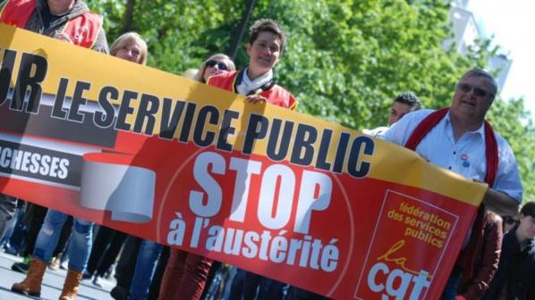 Grève des fonctionnaires pour défendre le service public