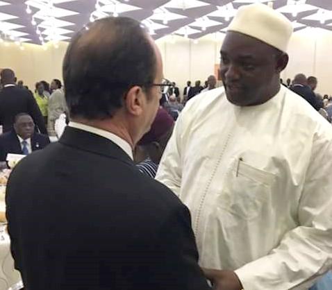 Palais de l'Elysée : Adama Barrow invité de François Hollande ce 15 mars