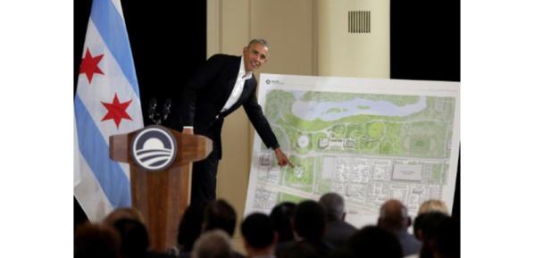 Etats-Unis: Obama présente sa future bibliothèque présidentielle