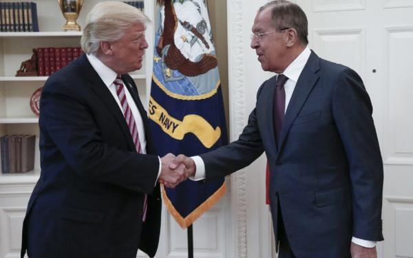 Donald Trump lors de sa rencontre avec Serguei Lavrov