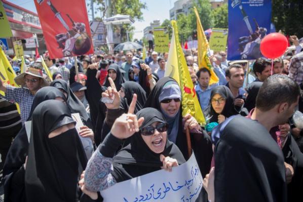"""Iran: slogans anti-saoudiens à Téhéran pour la """"Journée de Jérusalem"""""""