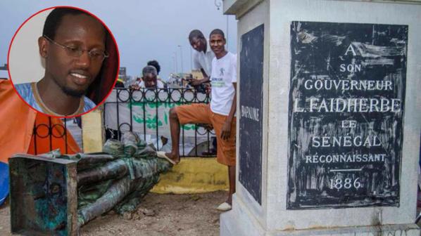 En médaillon, l'auteur Khadim Ndiaye