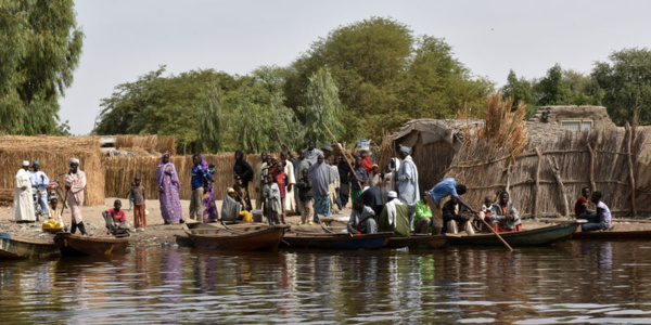 Des habitants d'une île du Lac Tchad
