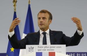 """Macron lance """"un combat vital"""" anti-pauvreté doté de 8 milliards d'euros"""