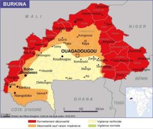 Burkina Faso: la France augmente son niveau d'alerte sécuritaire