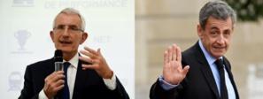 Guillaume Pepy, ex-patron de la SNCF (g.) et Nicolas Sarkozy