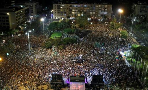 Des milliers de personnes expriment leur ras-le-bol contre Netanyahu