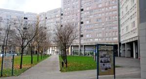 Grenoble, quartier de l'Arlequin au sud de la ville