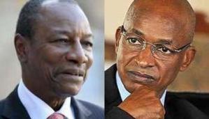 Alpha Condé (g.) et Cellou Dalein Diallo