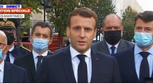 Le Président Emmanuel Macron à Nice