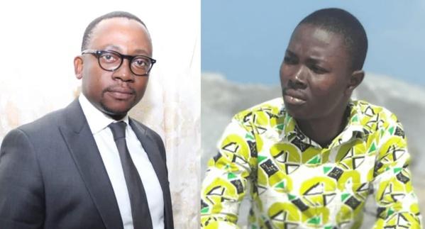 Le procureur béninois Mario Métonou (g) qui a envoyé le journaliste Ignace Sossou en prison pour 6 mois.