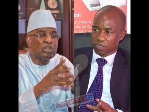 Malick Sall, ministre de la Justice (g) et Souleymane Teliko, président de l'Union des magistrats sénégalais (UMS)