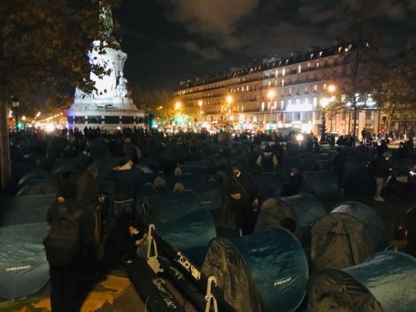 Paris : un camp de migrants évacué à la grenade lacrymogène