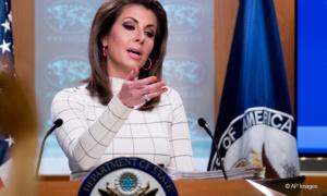 Morgan Ortagus, la porte-parole du Département d'Etat des Etats-Unis
