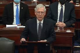 Impossible de juger Trump avant son départ, estime le chef républicain du Sénat