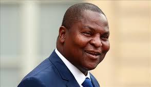 Le président réélu, Archange Touadéra