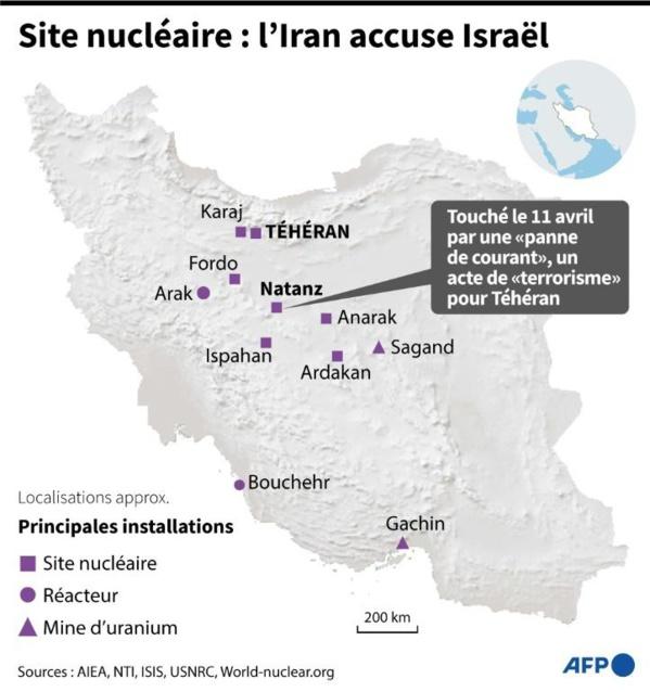 Enrichissement d'uranium : L'Iran accuse Israël d'une attaque sur un centre nucléaire