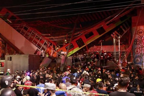 MEXICO - Effondrement d'un pont du métro aérien : 23 morts et 70 blessés