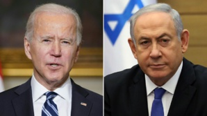 Le présidenyt américain et le chef du gouvernement intérimaire israélien