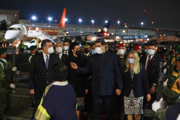 Nicolas Maduro à son arrivée à Mexico