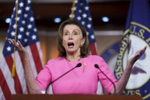 Vote crucial sur les infrastructures: la cheffe des démocrates américains confiante
