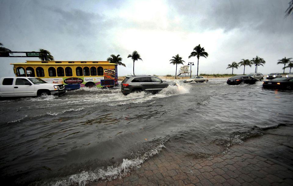Inondations en Floride après le passage de l'ouragan Hermine