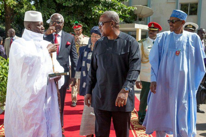 Jammeh avec ses ex-pairs de la Cedeao