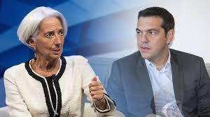 Lagarde (Fmi) et Tsipras (Grèce)