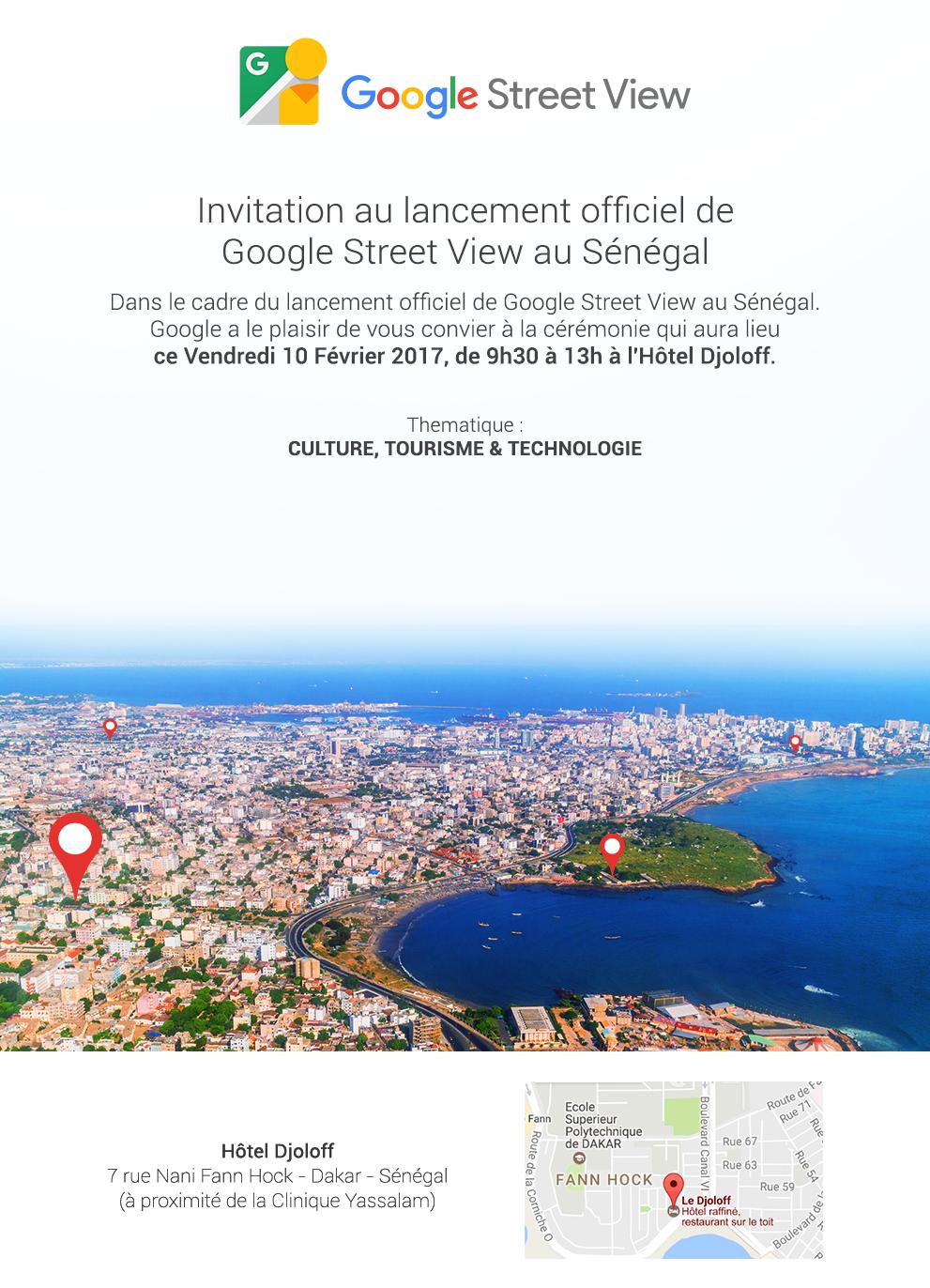 ''GOOGLE STREET VIEW'' : Le Sénégal, 1er pays en Afrique francophone à l'expérimenter