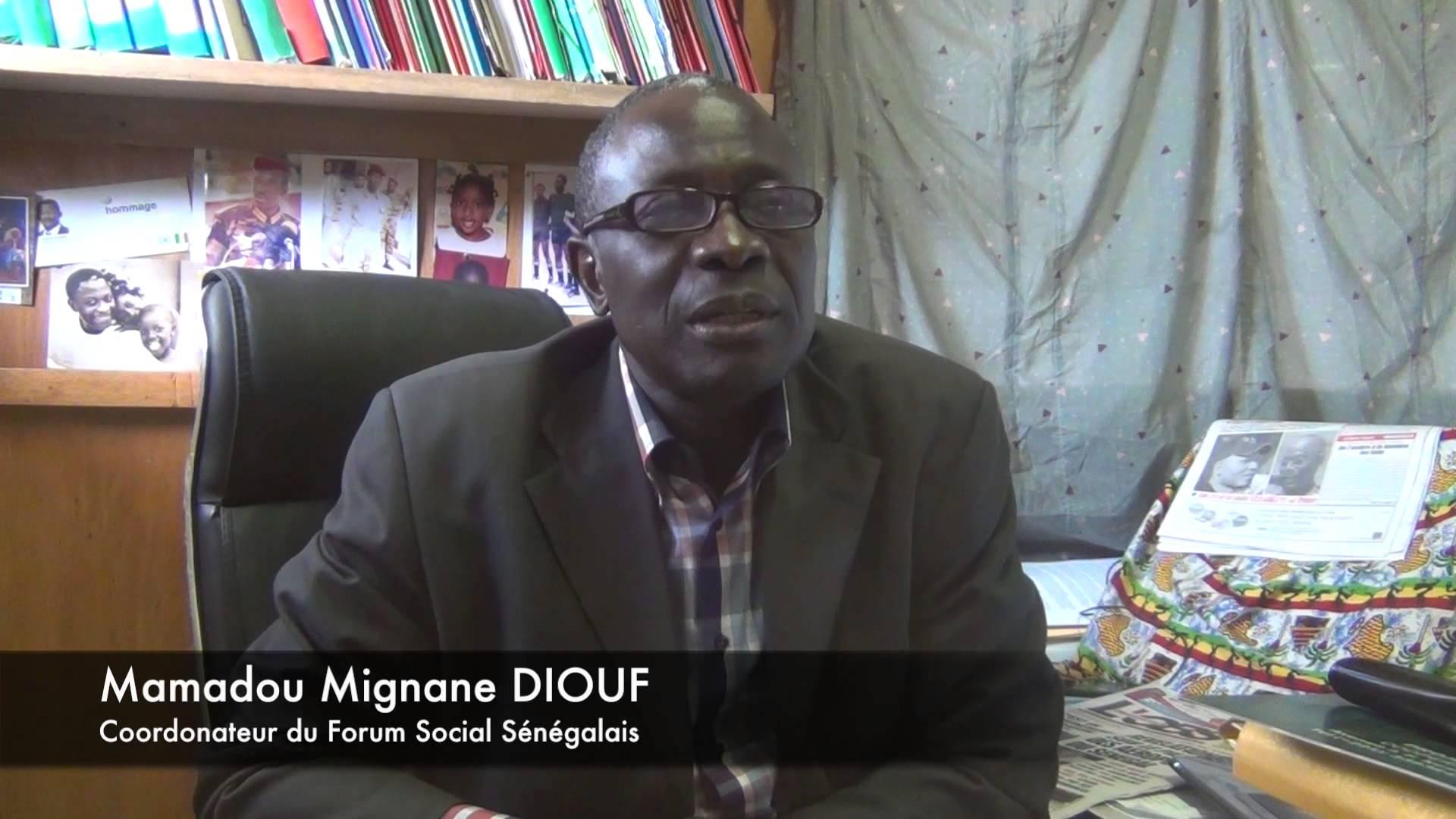 Mamadou Mignane Diouf, coordonnateu du FSSr