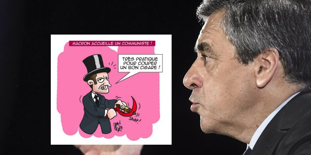 Fillon veut des sanctions après une caricature de Macron