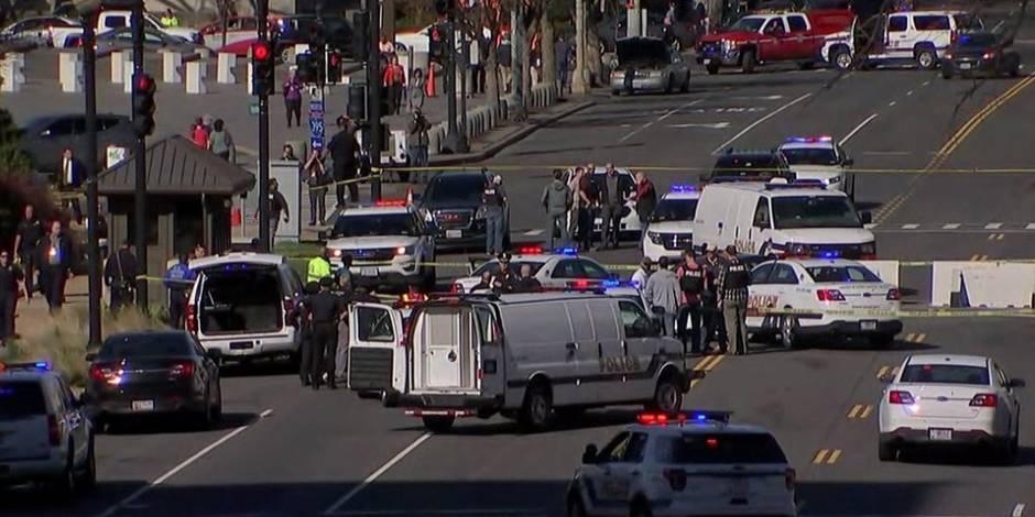 USA: un suspect arrêté pour avoir foncé sur une voiture de police près du Capitole