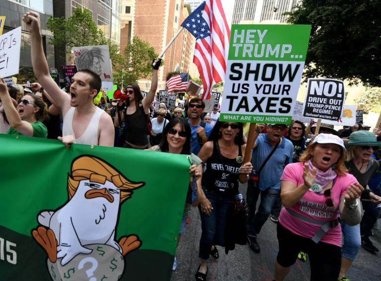 Etats-Unis : manifestations pour appeler Trump à publier ses impôts