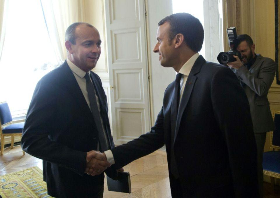 Emmanuel Macron et Laurent Berger (Cfdt)