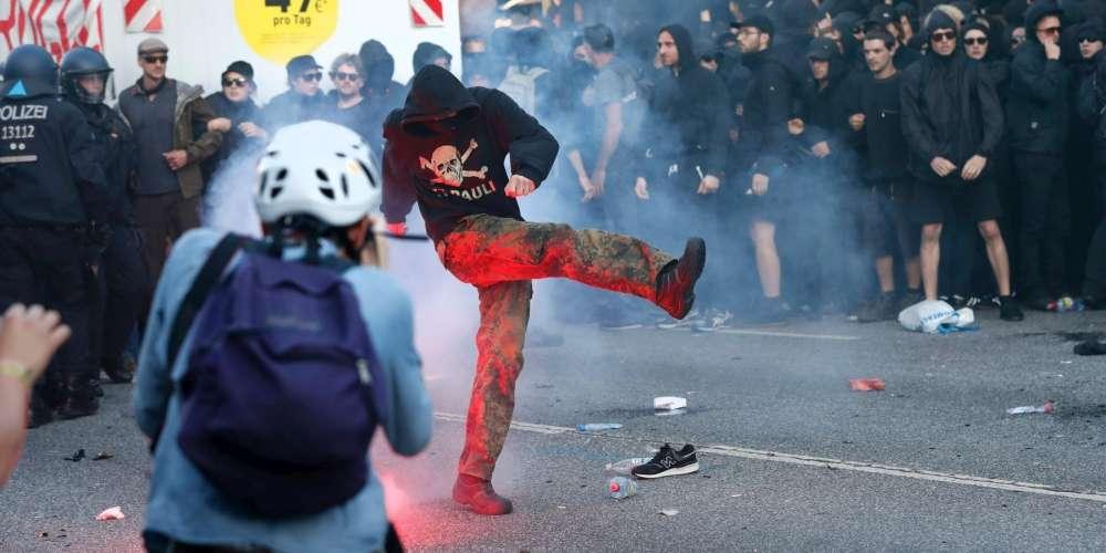 Heurts entre la police et des manifestants anti-G20 à Hambourg