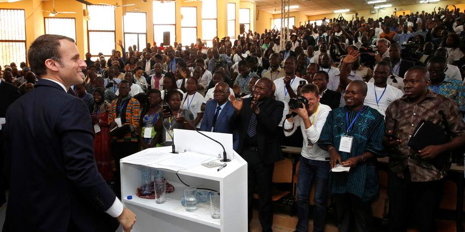 Le discours d'Emmanuel Macron à l'université de Ouaga 1