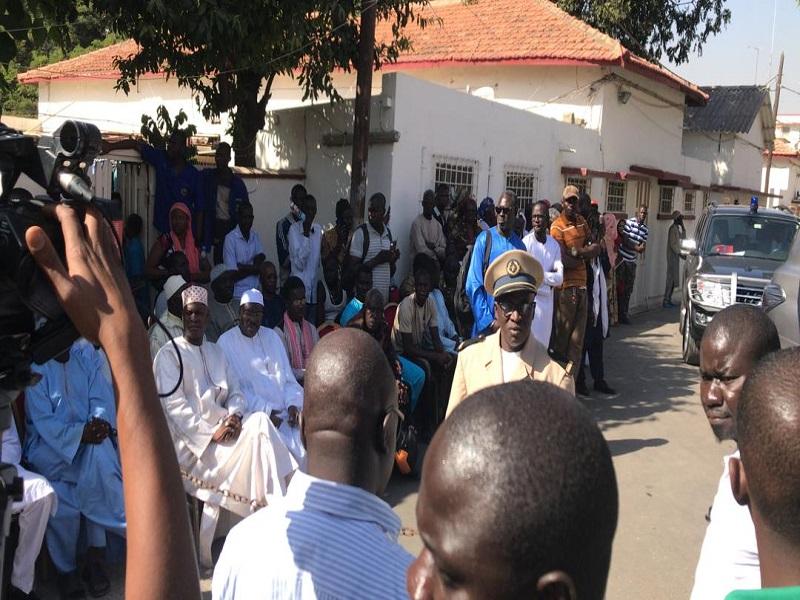 A la morgue de l'hôpital Principal de Dakar, hier.