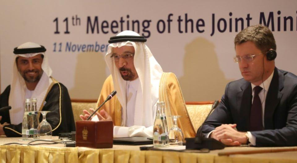 Le ministre saoudien du Pétole (au centre) Khaled al-Faleh (illustration)