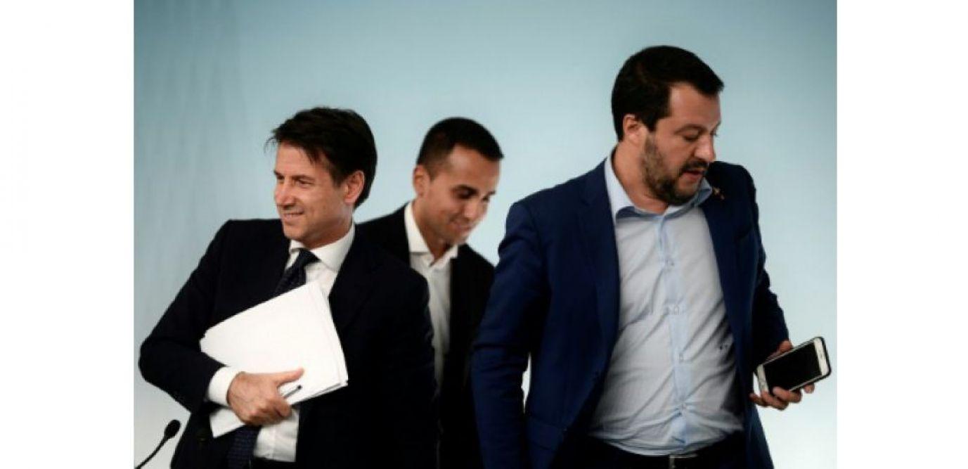 Conte, Di Maio et Salvini, le trio de l'Exécutif italien