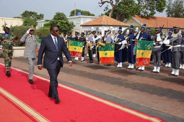 Le président de la République ce matin au Camp Dial Diop de Dakar