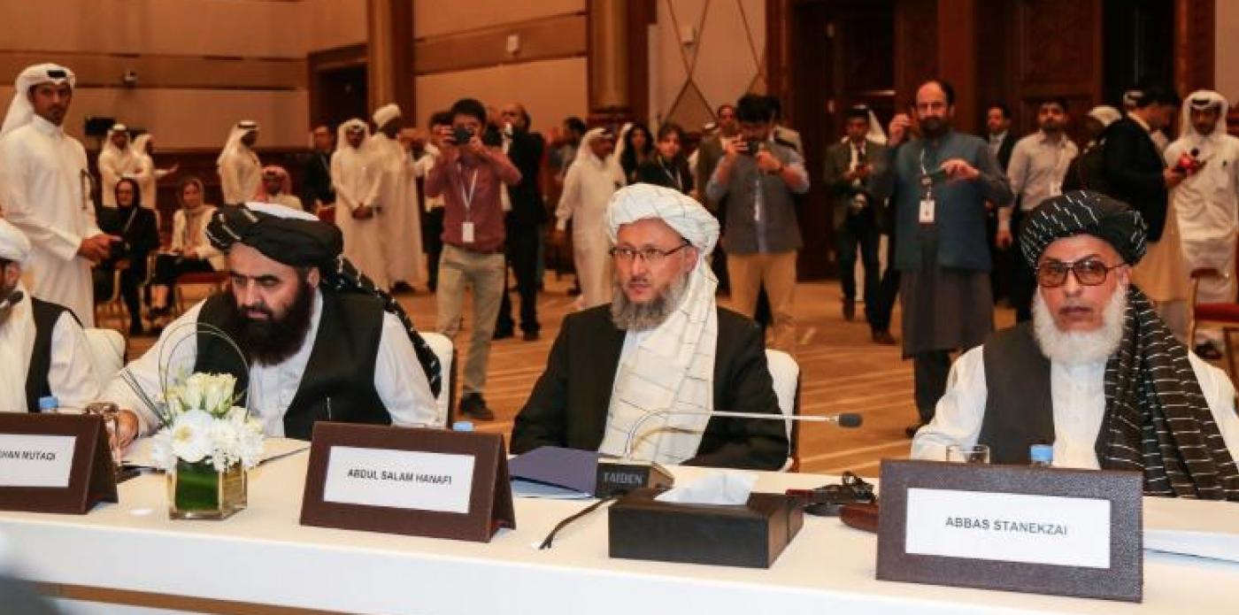 Les Etats-Unis et les Talibans discutent à Doha