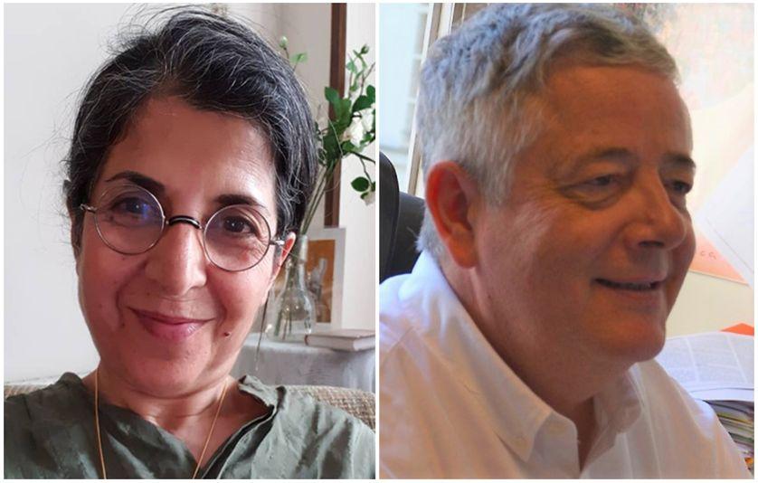 Fariba Adelkhah (g) et Roland Marchal