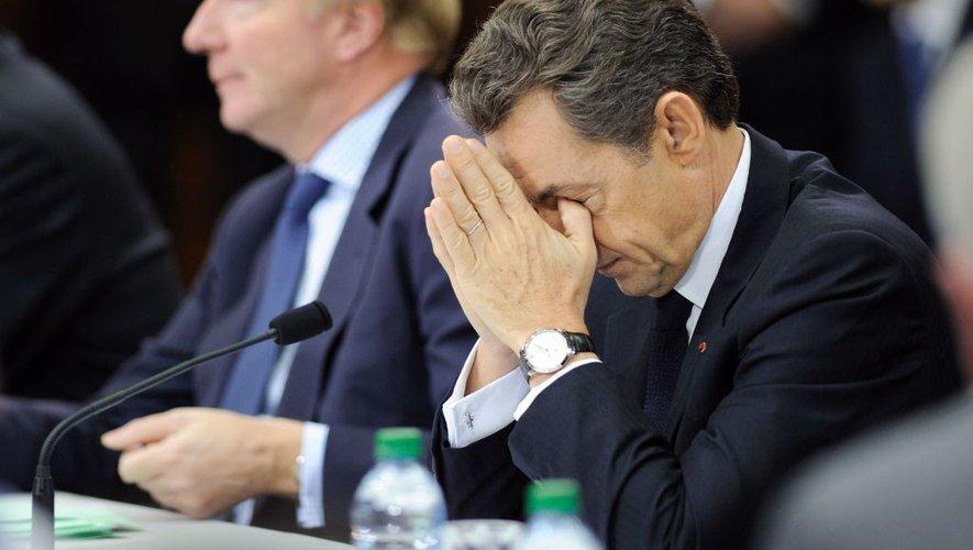 Nicolas Sarkozy aux côtés de son fidèle Brice Hortefeux