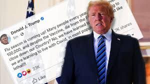 Une publication de Donald Trump supprimée sur Facebook concernant le Covid-19